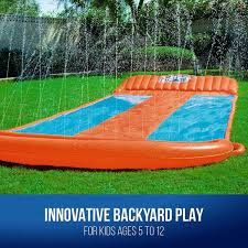 water slide triple u2013 bestway h2o go outdoor k outbaxcamping
