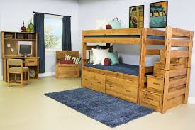 Bunk Bed With Shelves The Young Pioneer Kid U0027s Bunk Bedroom Collection Mor Furniture