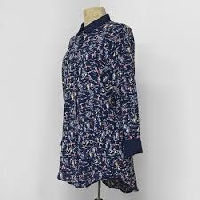 rayon blouse 1940s inspired navy sailboats pan collar blouse