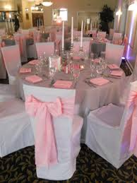 white wedding chair covers pink sashes pink and white wedding graceballroom