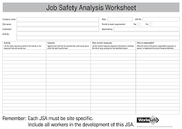 jsa form template job safety analysis template 6 free word pdf