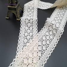 wide lace ribbon pf 10yards lot 6cm wide lace ribbon white cotton lace fabric