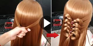 hairstyles using rubber bands 5 minute tutorial how to make simple and easy flower braid