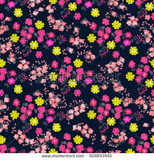 colorful small flowers seamless pattern stock vector 455842123