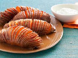 How To Cook A Sweet Potato In The Toaster Oven Hasselback Sweet Potatoes Recipe Food Network Kitchen Food Network