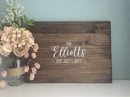 wedding gift guest rustic wedding guest book alternative calligraphy name design