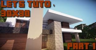 Maison Modern Minecraft by Minecraft Let U0027s Tuto 30x30 Maison Moderne Part 1 Youtube