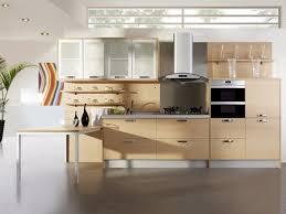 modern kitchen hood design toned cognac oak slab doors which are