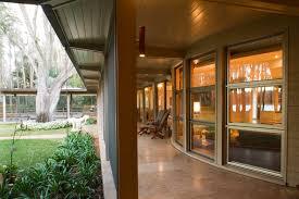 modern house appealing hallway design near granite tile floor