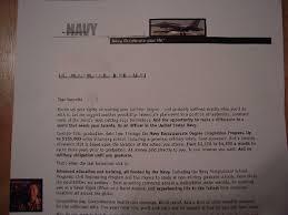 navy recruitment letter click