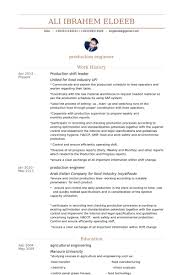 Food Industry Resume Shift Leader Resume Samples Visualcv Resume Samples Database