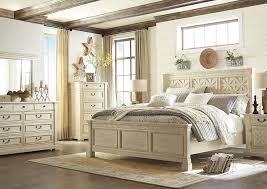 White Dresser And Nightstand Kemper Sales Bolanburg White Queen Panel Bed W Dresser Mirror