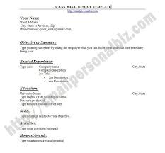 Formats For Resumes Blank Resume Templates For Microsoft Word Blank Resume Template