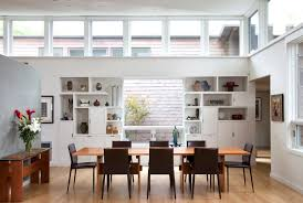 incredible open plan dining room with feng shui design also white