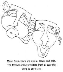 green coloring page mardi gras colors are purple green and gold coloring page