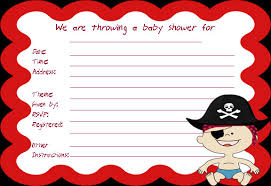 amazing pirate baby shower invitations