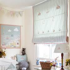 Nautical Curtain Fabric Baby Room Curtain Fabric Duck Egg Large Ticking Stripe Bird Boat L