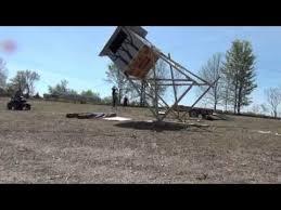 Deer Blind Elevator Brackets 8x8 1000 Lb 14 Ft Tower Deer Stand Raising Youtube