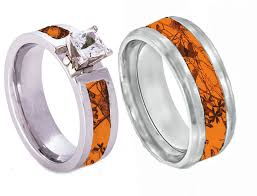 camo wedding bands his and hers jewelry rings mens wedding band camo with antler ring staghead