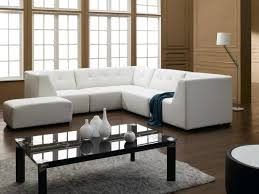L Shape Wooden Sofa Designs Living Room L Shaped White Leather Sofas And Rectangle Ottoman