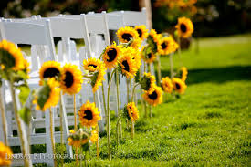 sunflower wedding decorations let s talk about pricing sunflower aisle decor flirty fleurs