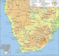africa map elevation maps southern africa matthew