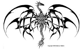 dragon art black white free download clip art free clip