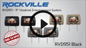 nissan armada headrest dvd player rockville rvd951 bg 9 u201d beige dual dvd usb hdmi sd car headrest