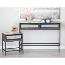 Wood And Metal End Table Classic Black Wood And Metal Console Table And End Tables Set Set