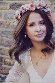 floral headdress for a wedding millie mackintosh tries out a hippie bridal