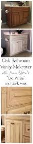 painting oak bathroom vanity with annie sloan chalk paint