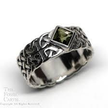 the cartel wedding band moldavite square faceted celtic sterling silver men s ring