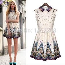 summer dresses on sale ol causal dress sweet women summer print dress fshion design