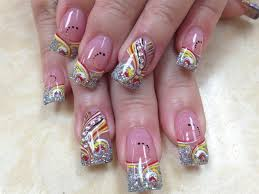 bling bling silver tips nail art gallery
