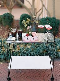 modern drink table moody and modern wedding inspiration at east ivy mansion ruffled