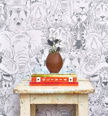 Peel Stick Wallpaper Wild Thing Safari Peel And Stick Wallpaper Best Products For