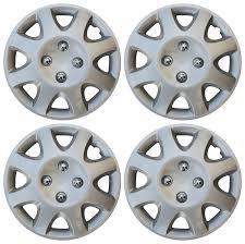 toyota corolla with rims 4 set 14 inch hub cap silver skin cover for steel wheel