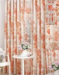 Sheer Curtains Orange Burnt Orange Floral Curtains 2018 Curtain Ideas