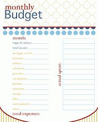 Budget Plan Spreadsheet Monthly Budget Planner Worksheetmemo Templates Word Memo