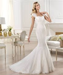 sweetheart cap sleeve sheer back lace wedding dress with buttons