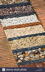 sles of ornamental gravel and pebbles on sale in garden centre