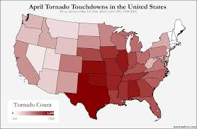 Map Of Tennessee And Surrounding States by Here U0027s Where Tornadoes Typically Form In April Across The United