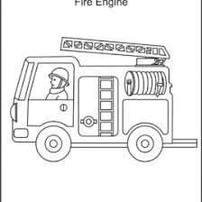 free coloring fire truck archives mente beta complete