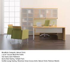 National Waveworks Reception Desk National Office Furniture Waveworks Casegoods In Autumn Finish