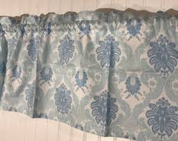 Duck Egg Blue Damask Curtains Blue Damask Curtains Etsy