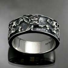 skull wedding rings 17 best images about unique wedding bands and rings on