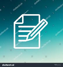 taking note icon thin line web stock vector 270716417 shutterstock