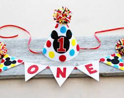 mickey mouse 1st birthday boy mickey mouse 1st birthday hat boys birthday felt party