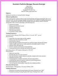 Sample Resume Portfolio by Link To An Portfolio Manager U003ca Href U003d