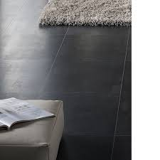 Black Laminate Flooring Tile Effect Cresendo Black Tile Effect Laminate Flooring 1 75 M Pack